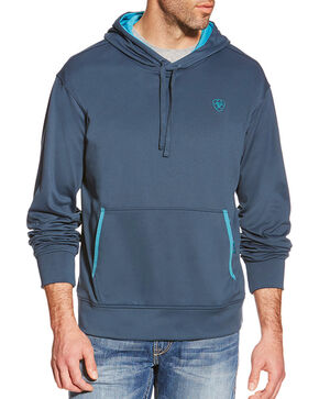 Ariat Men's TEK Fleece Hoodie 2.0, Navy, hi-res