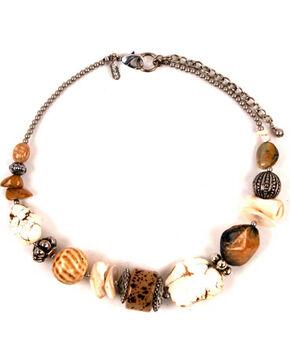 Treska Women's Chunky Beaded Necklace, White, hi-res