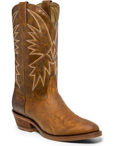 "Nocona Men's Vintage 12"" Cowboy Boots - Round Toe, Tan, hi-res"