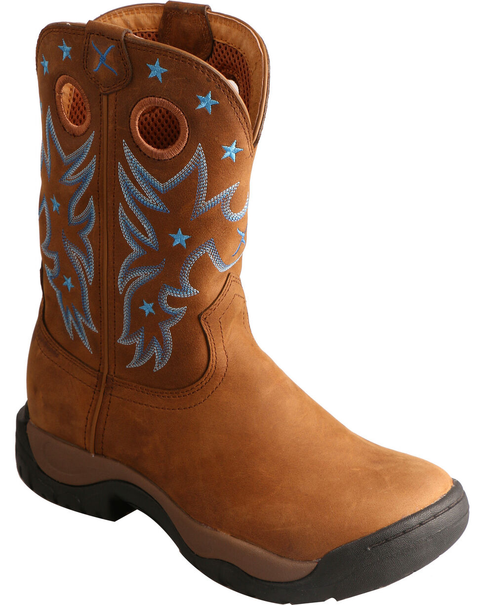 Twisted X Brown All Around Waterproof Cowgirl Boots - Round Toe, Brown, hi-res