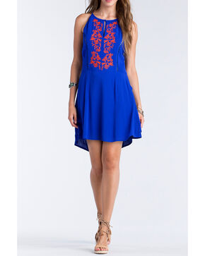 Miss Me Women's Blue Strappy Back Dress , Blue, hi-res