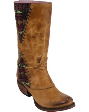 Junk Gypsy by Lane Women's The El Paso Boots - Round Toe , Tan, hi-res