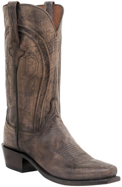 Lucchese Clint Heirloom Mad Dog Goat Boots- Snip Toe, Pearl, hi-res