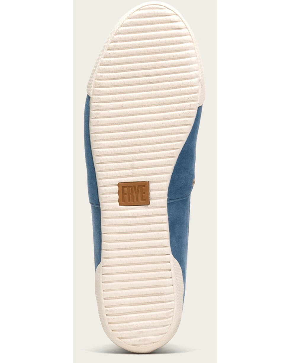 Frye Women's Blue Melanie Slip On Shoes , Blue, hi-res