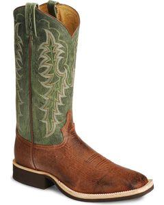 Tony Lama Smooth Ostrich Crepe Cowboy Boots - Square Toe, , hi-res