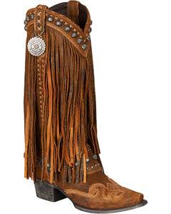 Lane for Double D Ranch Women's Brown Prescott Boots - Snip Toe , , hi-res