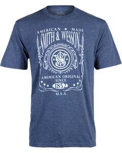 Smith & Wesson Men's Navy Original Logo Label Tee , Navy, hi-res