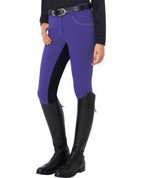 Ovation Women's Sorrento Full Seat Breeches, Amethyst, hi-res