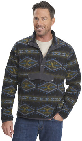 Woolrich Men's Trail Blazing Fleece Pullover, Black, hi-res