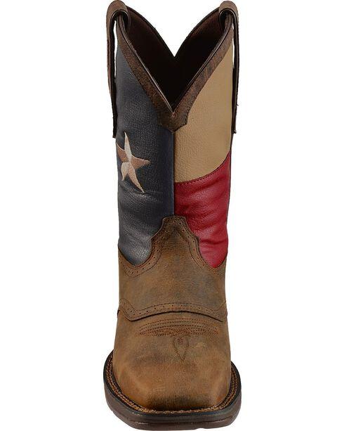 Durango Rebel Texas Flag Cowboy Boots - Comp Toe, Brown, hi-res