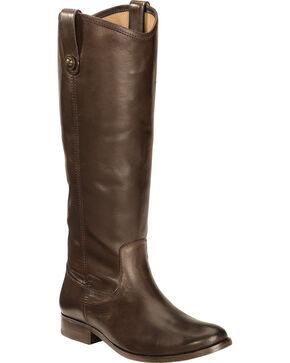 Frye Women's Melissa Button Riding Boots - Wide Calf, Dark Brown, hi-res
