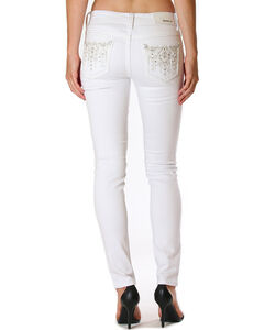 Grace in La Women's Destructed Jeans - Skinny , White, hi-res