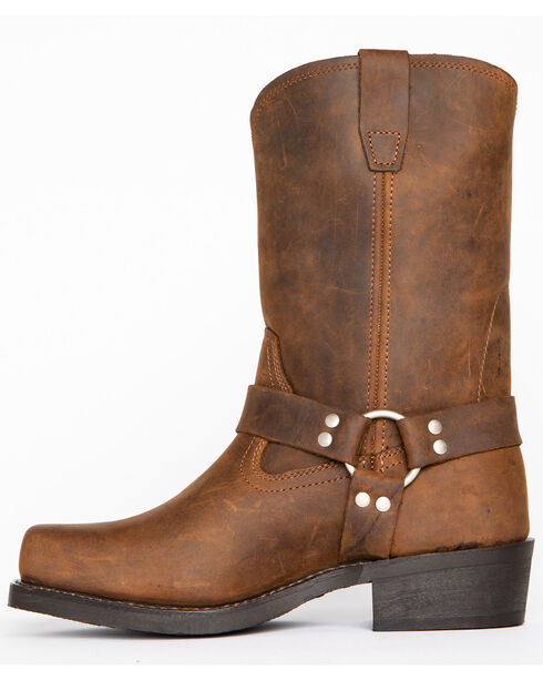 Cody James Men's Brown Harness Boots - Square Toe, Brown, hi-res