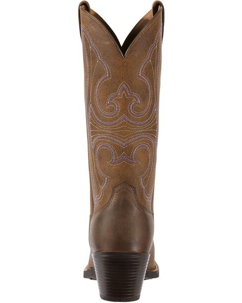 Ariat Roundup Cowgirl Boots - Snip Toe, Distressed, hi-res
