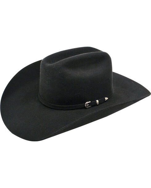 Ariat 3X Wool Cattleman Western Hat, Black, hi-res