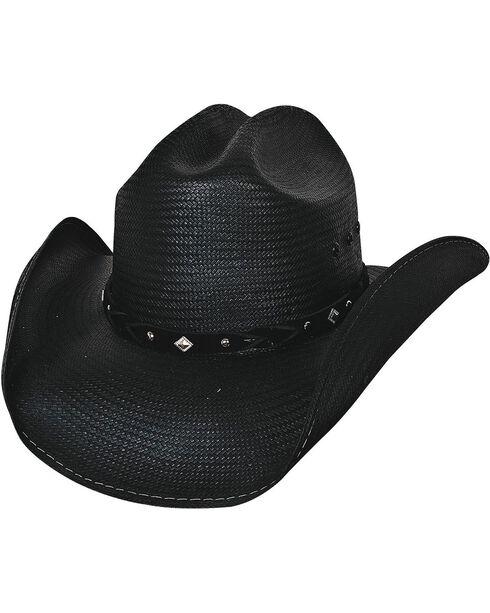 Bullhide Terri Clark Emotional Girl Shantung Straw Cowgirl Hat, Black, hi-res