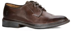 Frye Women's James Oxford Shoes - Round Toe, Dark Brown, hi-res
