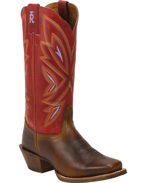 Tony Lama Women's Tan Cuero 3R Cowgirl Boots - Square Toe , , hi-res