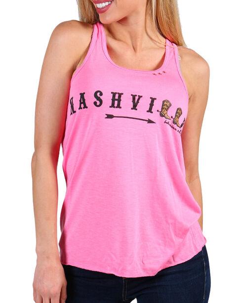 Bohemian Cowgirl Women's Nashville Tank, Hot Pink, hi-res