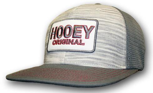 HOOey Men's Grey Original Logo Trucker Hat  , Grey, hi-res