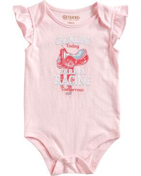 """Shyanne Infant Girls' """"Barrel Racing Tomorrow"""" Cap Sleeve Onesie, Pink, hi-res"""