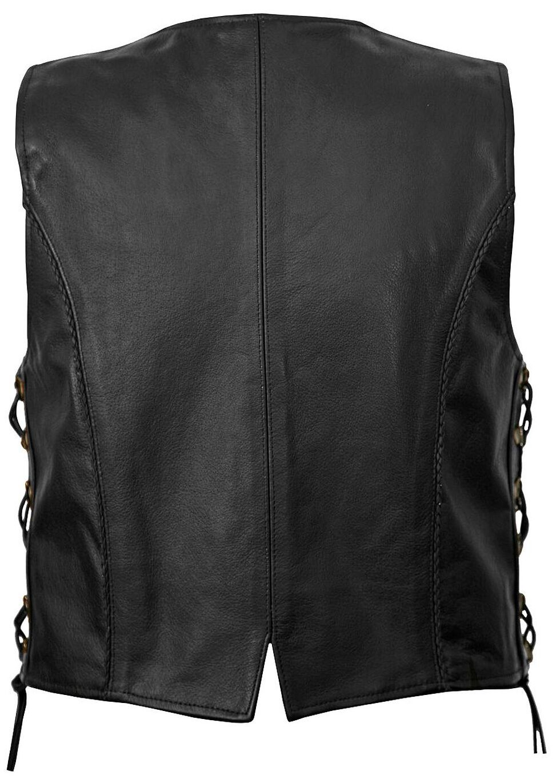 Milwaukee Motorcycle Deuce Leather Vest - XL, Black, hi-res