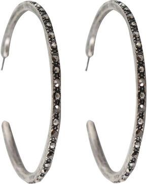 Shyanne Women's Embellished Hoop Earrings, Silver, hi-res