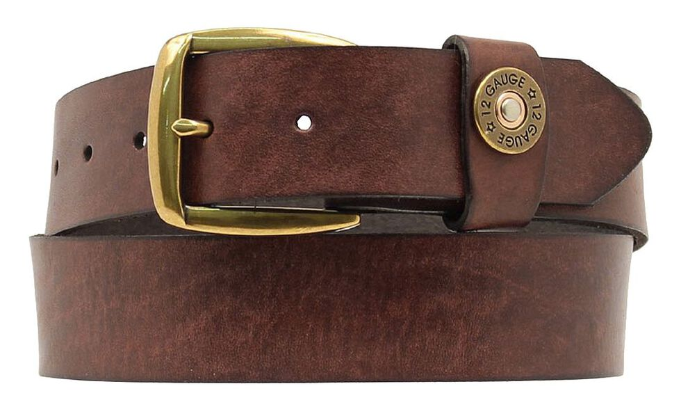 Nocona 12 Gauge Shell Casing Belt, Brown, hi-res
