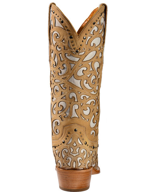 Lucchese Handmade 1883 Women's Sierra Cowgirl Boots - Snip Toe, Bone, hi-res