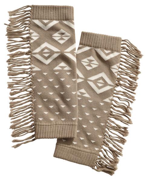 Shyanne Women's Aztec Fringe Boot Cuffs, Natural, hi-res
