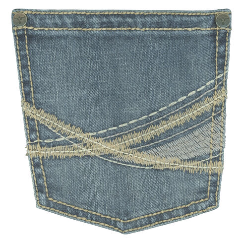 Wrangler 20X Men's 42 Vintage Boot Medium Wash Jeans, Indigo, hi-res