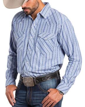 Resistol Men's Diamondville Striped Long Sleeve Shirt, White, hi-res