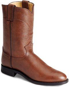 Justin Classic Roper Cowboy Boots - Round Toe, , hi-res