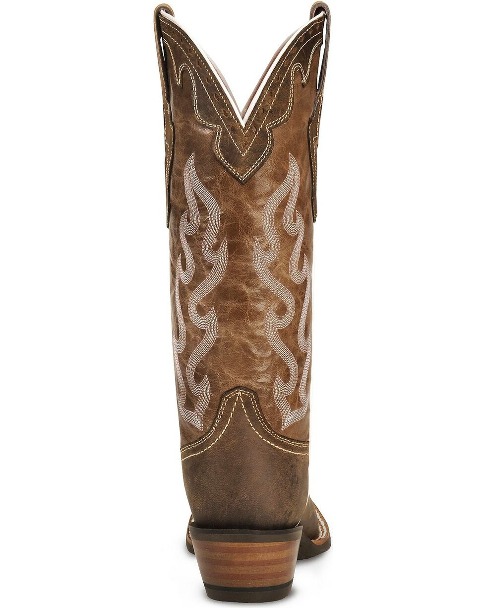 Ariat Crossfire Caliente Cowgirl Boots - Wide Square Toe, Brown, hi-res