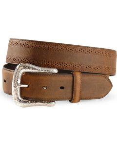 Ariat Basic Western Leather Belt - Reg & Big, , hi-res