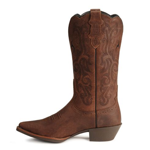Justin Stampede Western Cowgirl Boots With Rubber Sole
