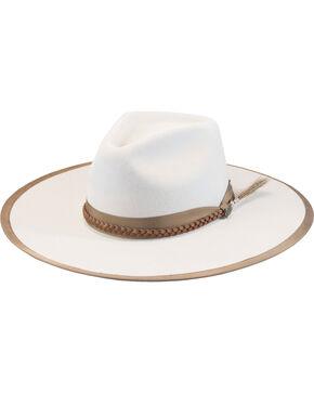 Justin Men's Buck 7X Fur Felt Magnificent Hat, Ivory, hi-res