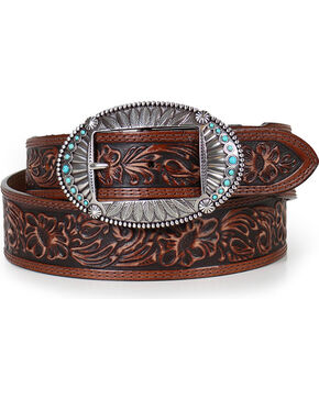 Justin Women's Brown Native Spirit Western Belt , Brown, hi-res