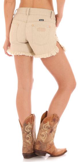 Wrangler Retro® Women's Tan Frayed Hem Sadie Shorts , Natural, hi-res