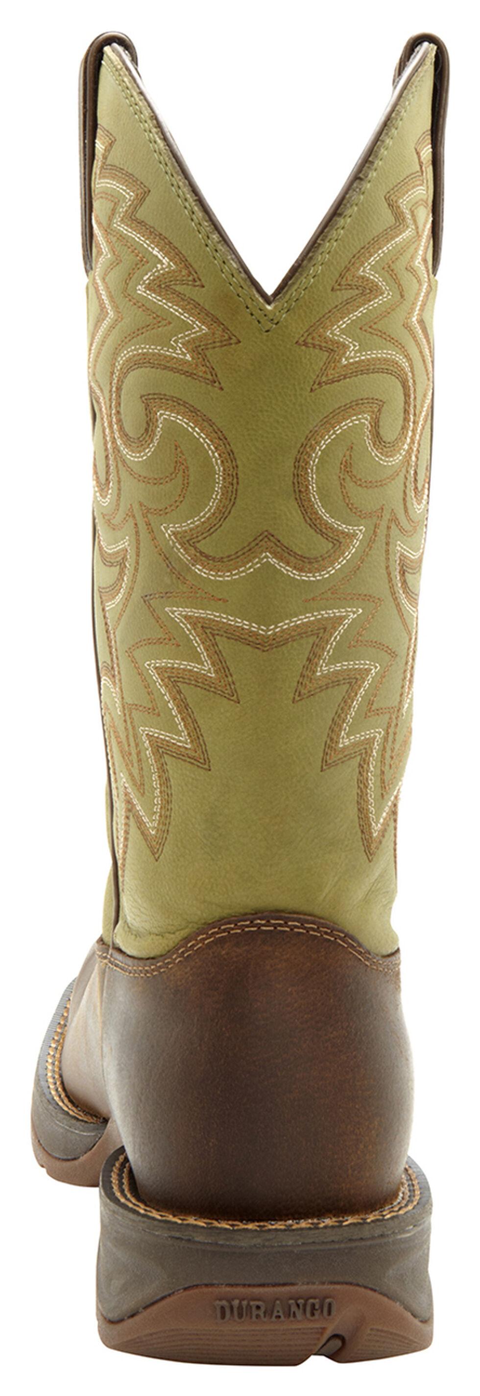 Durango Rebel Men's Coffee & Cactus Western Boots - Square Toe, Coffee, hi-res