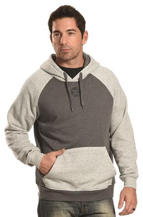 Hooey Men's Grey Pullover Logo Hoodie , Grey, hi-res