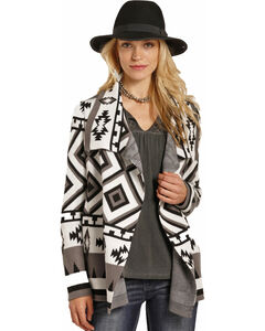 Panhandle Women's Aztec Pattern Cardigan, Multi, hi-res
