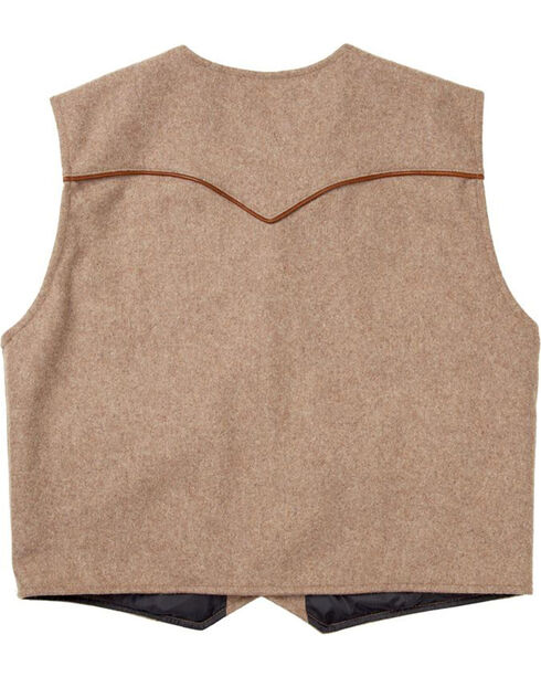 Schaefer Outfitter Men's Taupe Stockman Melton Wool Vest - XLT, Taupe, hi-res