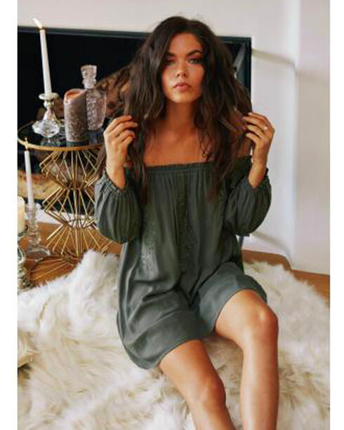 Sage The Label Women's Olive Camille Tunic Dress , , hi-res