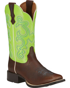 Ariat Quickdraw Cowgirl Boots - Square Toe, , hi-res