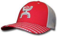 HOOey Men's Red Solo III FlexFit Hat  , Red, hi-res