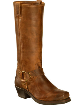 Frye Women's Harness 15R Riding Boots - Square Toe, Dark Brown, hi-res