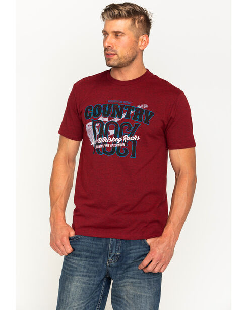 Moonshine Spirit Men's Country Rock Short Sleeve T-Shirt , Heather Red, hi-res