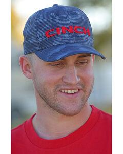 Cinch Men's Blue 3D Logo Baseball Cap , Blue, hi-res