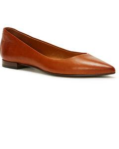 Frye Women's Brown Sienna Ballet Flats - Pointed Toe, Lt Brown, hi-res